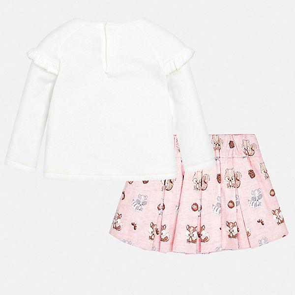 Комплект: футболка с длиннмы рукавом и юбка Mayoral для девочки