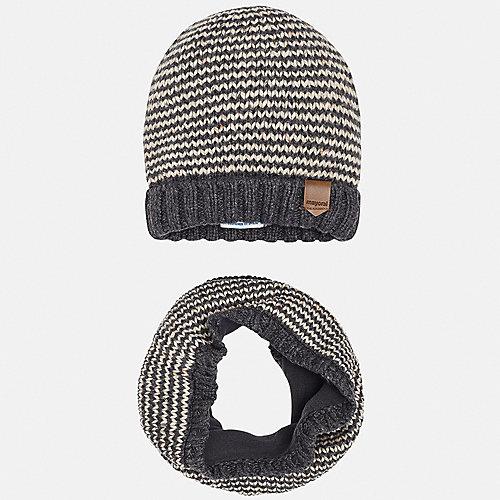 Комплект Mayoral: шапка и шарф - серый от Mayoral