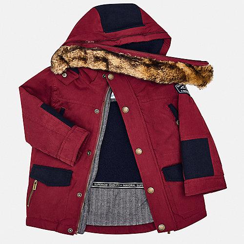 Утепленная куртка - бордовый от Mayoral