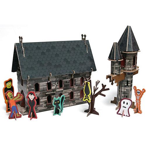 """Книга для творчества """"Замок монстров"""" Книга + 3D модель для сборки от Махаон"""