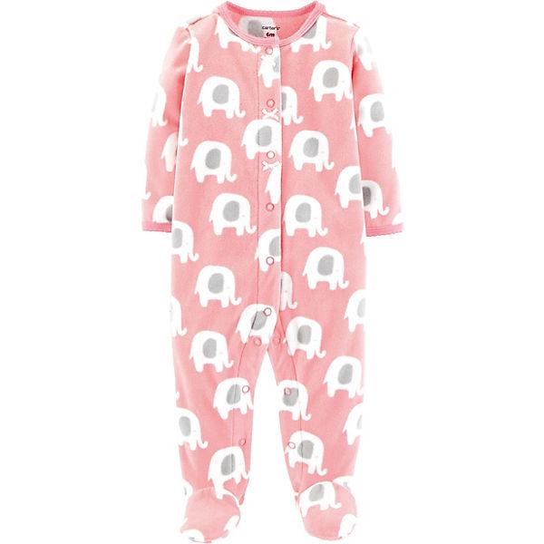 Tiefstpreis weltweite Auswahl an exklusives Sortiment Baby Fleece-Schlafanzug mit Elefanten für Mädchen, carter`s ...