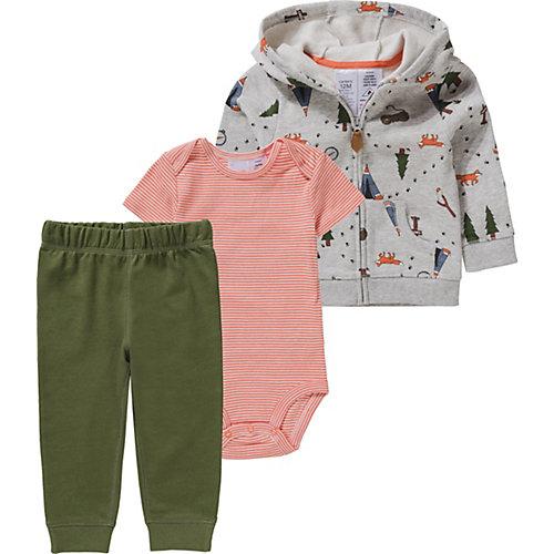 Baby Set Sweatjacke + Body + Sweathose Gr. 86 Jungen Kleinkinder | 00889338945685