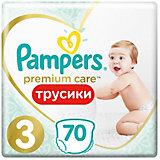 Подгузники-трусики Pampers Premium Care Pants для мальчиков и девочек Midi 6-11 кг, размер 3, 70 шт.