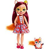 Большая кукла Enchantimals Фелисити Фокс и Флик, 31 см