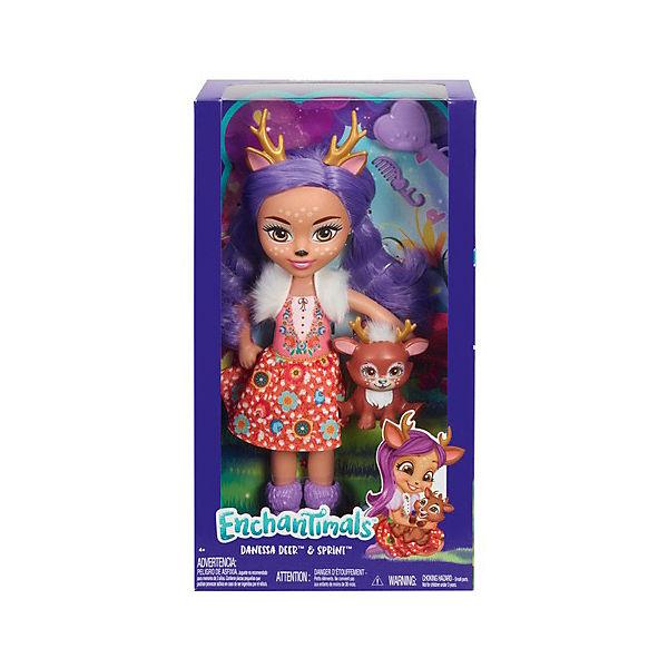 Большая кукла Enchantimals Данесса Оленни и Спринт, 31 см
