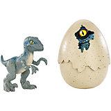 Динозавры в яйцах Jurassic World Велоцираптор, синий