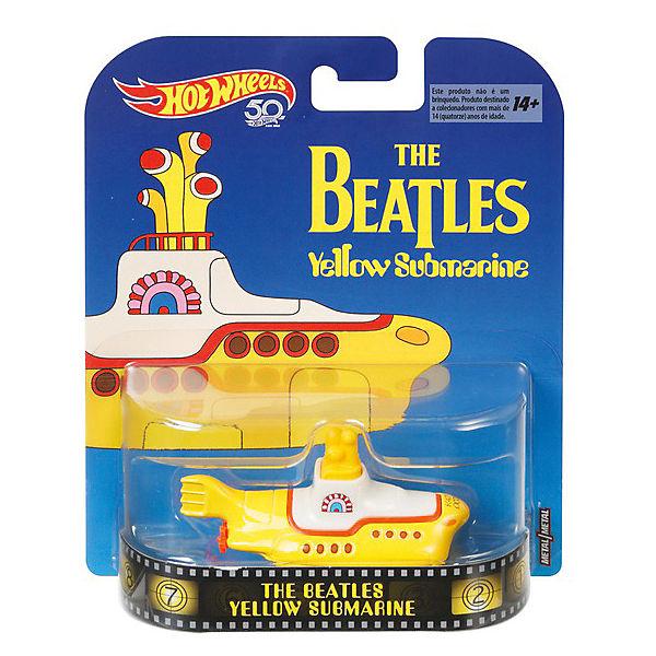 """Тематическая премиальная машинка Hot Wheels """"The Beatles"""" Жёлтая субмарина"""
