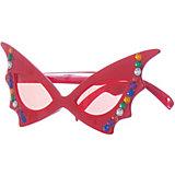 Карнавальные очки Феникс-Презент, розовые со стразами