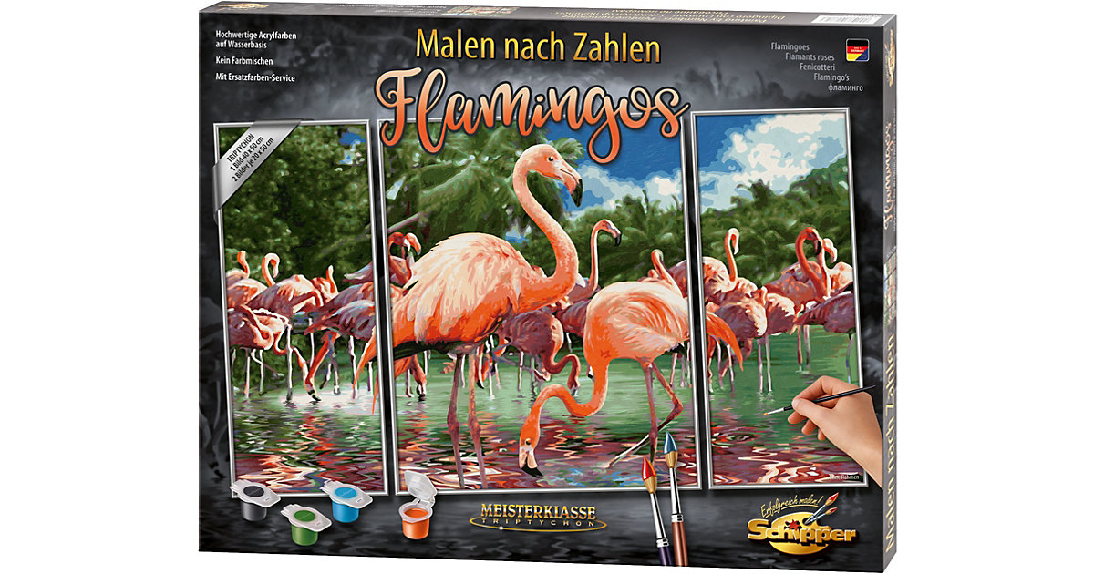 SCHIPPER · Malen nach Zahlen - Flamingos Triptychon