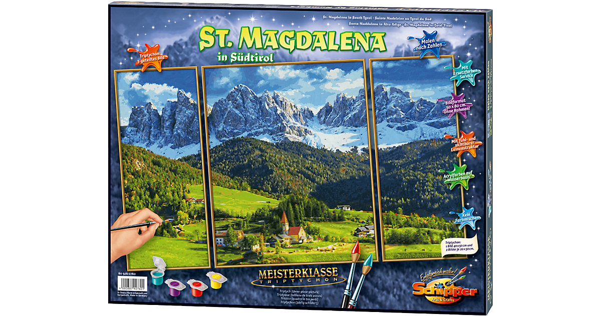 SCHIPPER · Malen nach Zahlen - St. Magdalena in Südtirol Triptychon