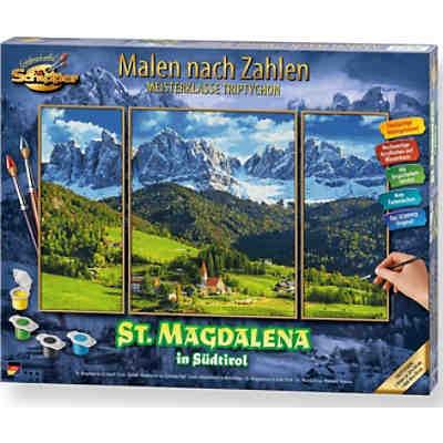 Malen Nach Zahlen St Magdalena In Südtirol Triptychon Schipper