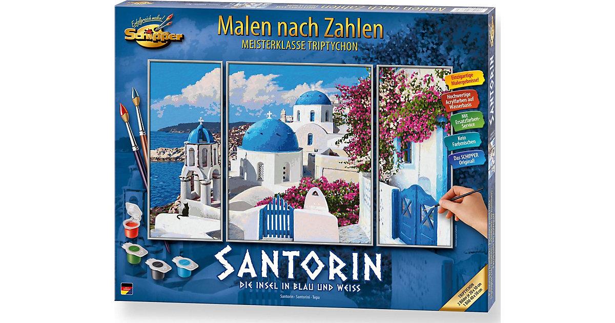 SCHIPPER · Malen nach Zahlen - Santorin Triptychon