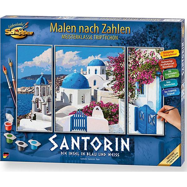 Malen Nach Zahlen Santorin Triptychon Schipper