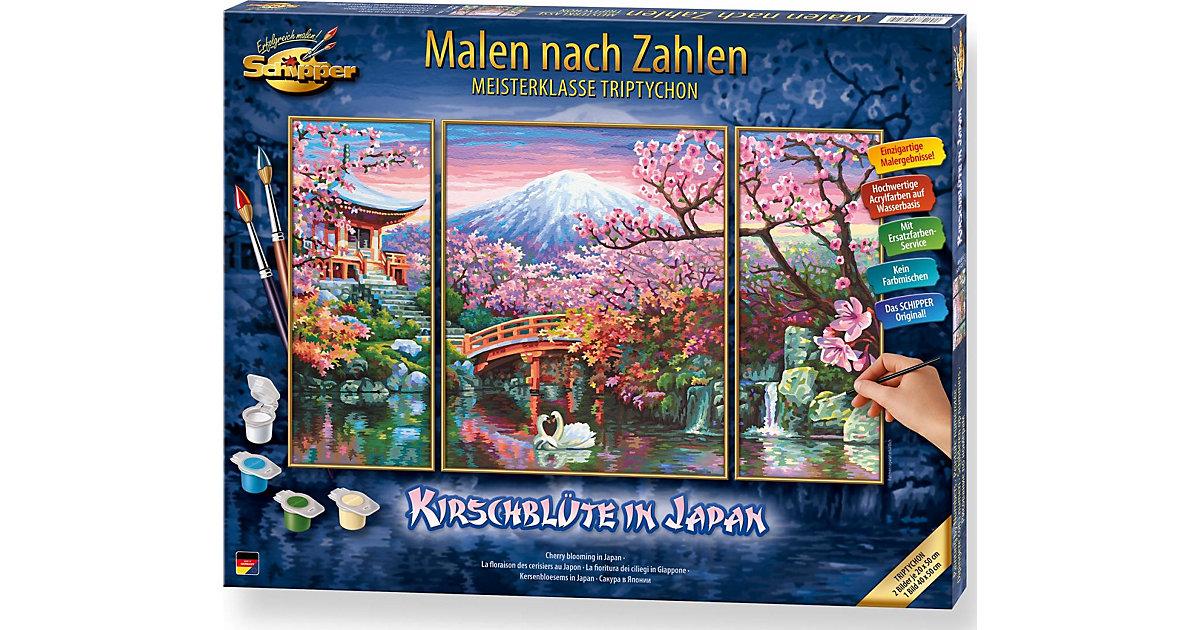 Malen nach Zahlen - Kirschblüte in Japan Tripty...