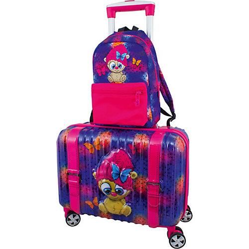 """Дорожный набор:  Чемодан и рюкзак DeLune """"Тролль"""" - сиреневый от DeLune"""