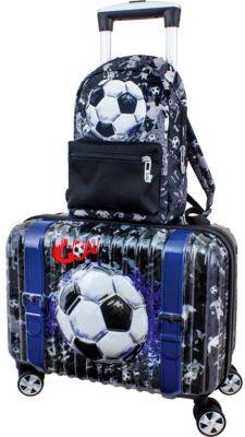 """Дорожный набор:  Чемодан и рюкзак DeLune """"Футбол"""""""
