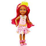 """Мини-кукла Barbie """"Dreamtopia"""" Принцесса Челси с розовыми волосами, 14 см"""