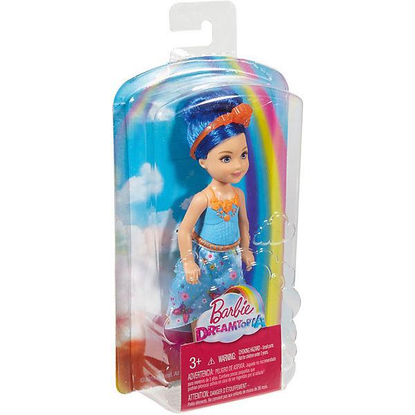 """Мини-кукла Barbie """"Dreamtopia"""" Принцесса Челси с синими волосами, 14 см"""