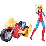 Набор с фигуркой DC Super Hero Girls Чудо-женщина с мотоциклом, 15 см