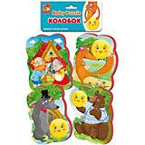 "Мягкие пазлы Vladi Toys ""Baby puzzle"" Сказки Колобок"