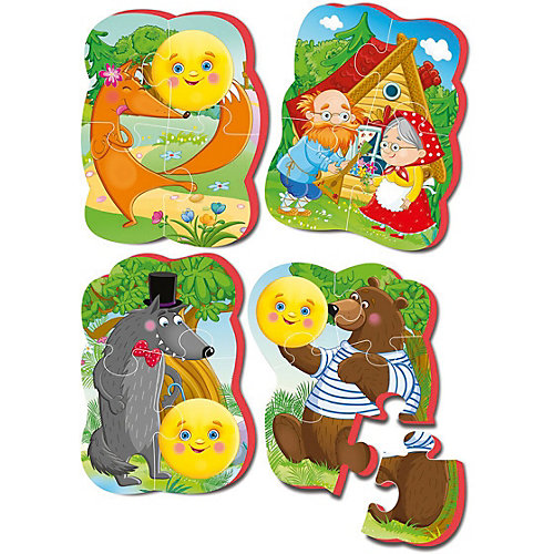"Мягкие пазлы Vladi Toys ""Baby puzzle"" Сказки Колобок от Vladi Toys"