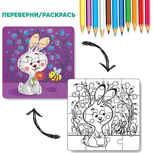 """Пазл-раскраска 2-в-1 Dodo """"Зайчонок"""", 16 элементов от Dodo"""