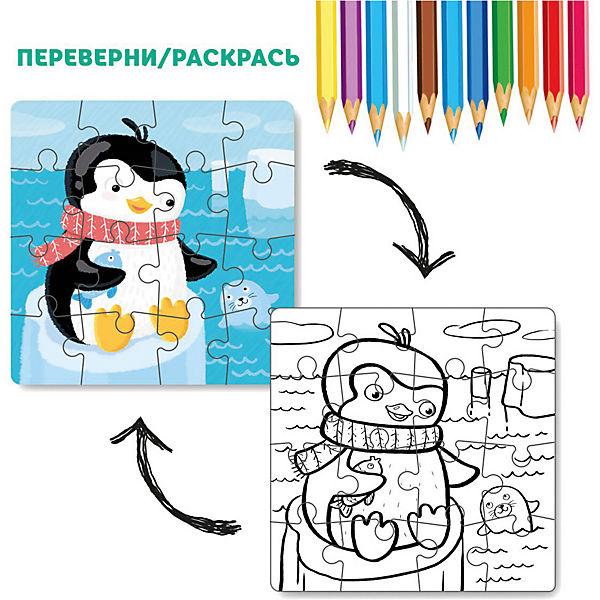 """Пазл-раскраска 2-в-1 Dodo """"Пингвинчик"""", 16 элементов"""