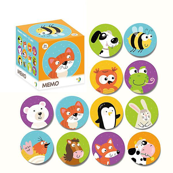 """Настольная игра-мемо Dodo """"Животные"""", 24 фишки"""