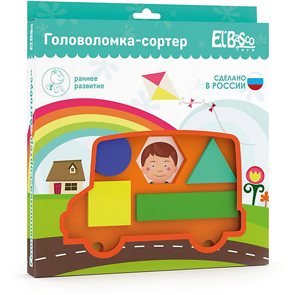 "Головоломка-сортер El`Basco Toys ""Автобус"""