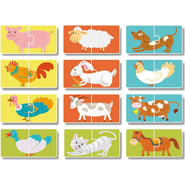 """Пазл-парочки Dodo """"Домашние животные"""", 12 парных пазлов"""