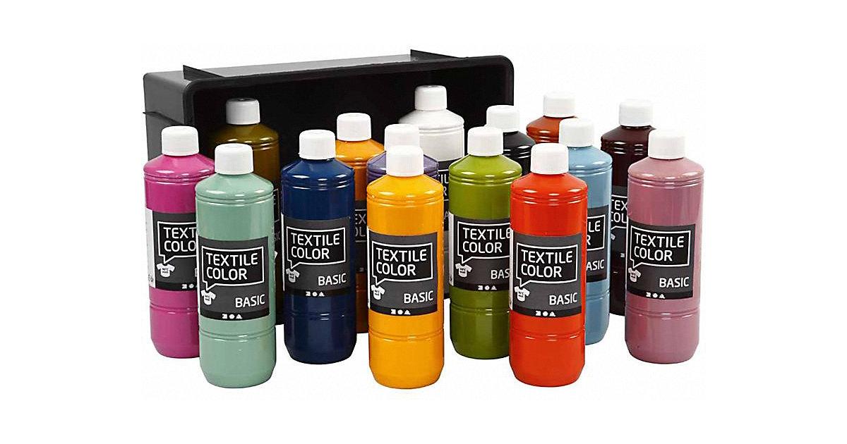 Textilfarbe - Sortiment, 15x500 ml