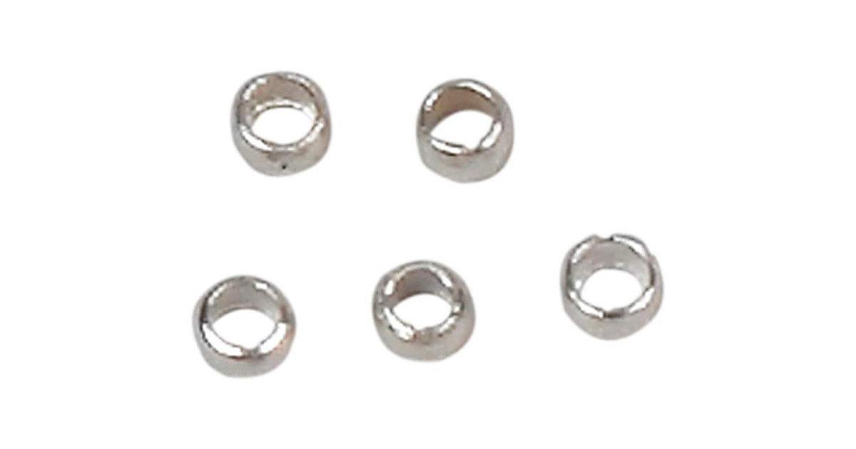 Quetschperlen, D: 2,5 mm, 1000 Stück, Versilbert