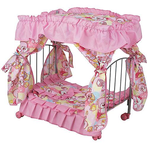 Кроватка для кукол Buggy Boom Loona, розово-черная от Buggy Boom