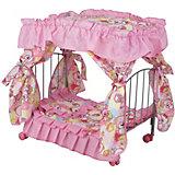 Кроватка для кукол Buggy Boom Loona, розово-черная