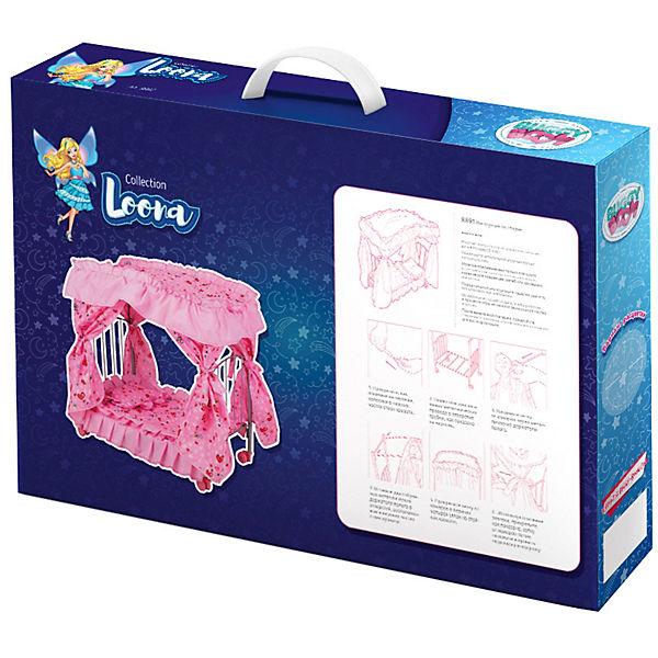 "Кроватка для кукол Buggy Boom ""Loona"", розово-черная"