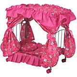 Кроватка для кукол Buggy Boom Loona, ярко-розовая