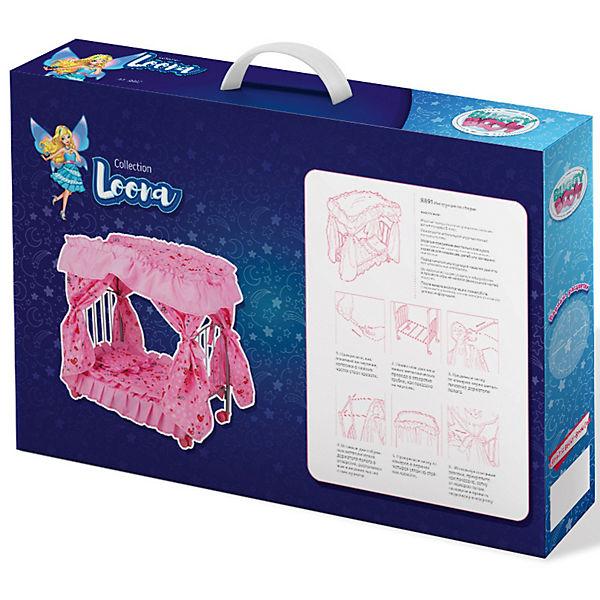 Кроватка для кукол Buggy Boom Loona, светло-розовая