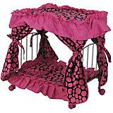 Кроватка для кукол Buggy Boom Loona, бежево-розовая