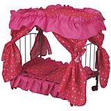 Кроватка для кукол Buggy Boom Loona, розовая/коралл