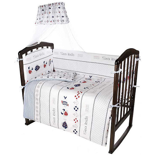 Комплект в кроватку Ifratti Sea kids, 7 предметов