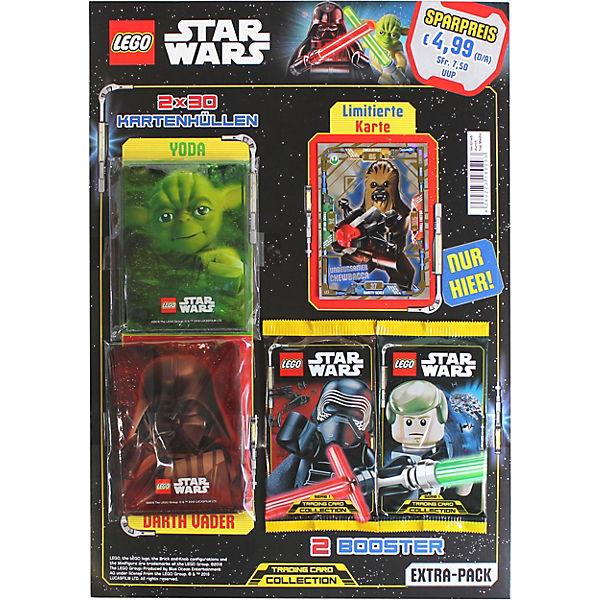 Star Wars Karte.Lego Star Wars Trading Cards Extra Pack Mit 2 Booster Gold Karte 60 Schutzhullen Star Wars