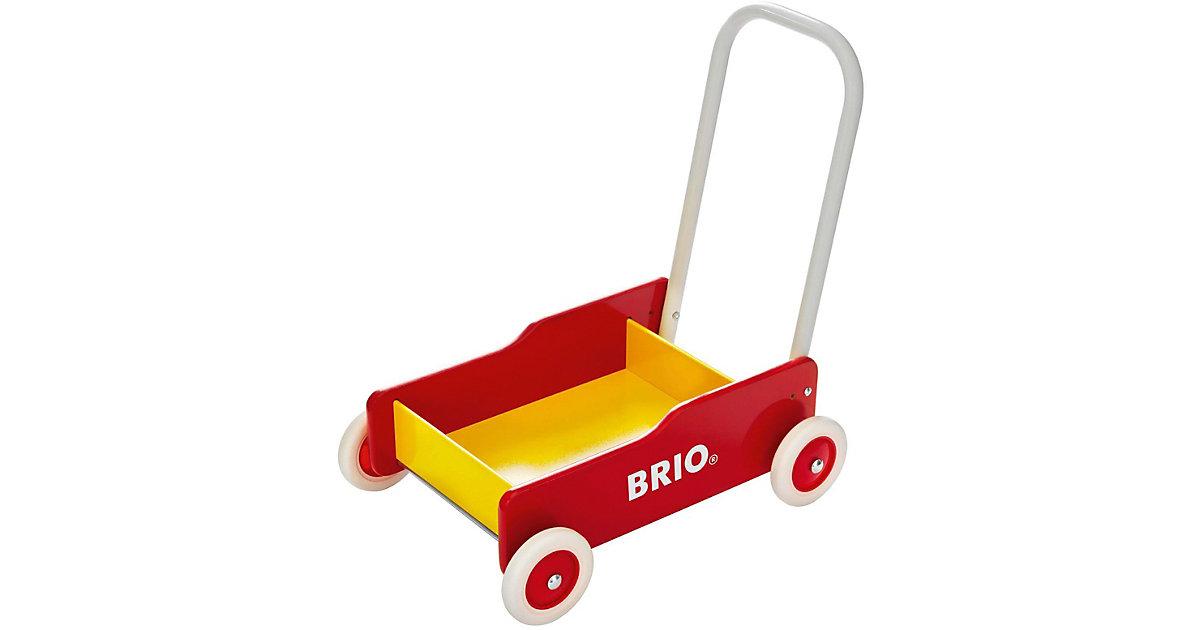 Holz Lauflernwagen gelb/rot