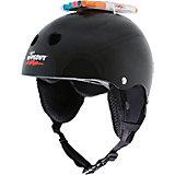Зимний защитный шлем Wipeout Black с фломастерами, черный