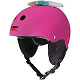 Зимний защитный шлем Wipeout Neon Pink с фломастерами, розовый