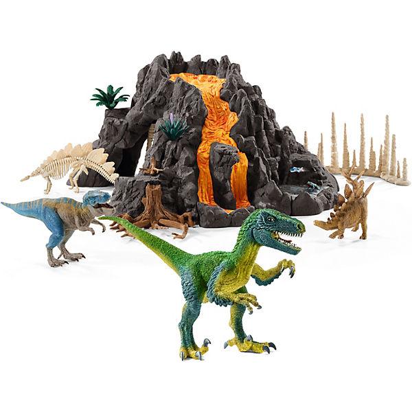 Bundle Riesenvulkan mit T-Rex + Velociraptor, Schleich
