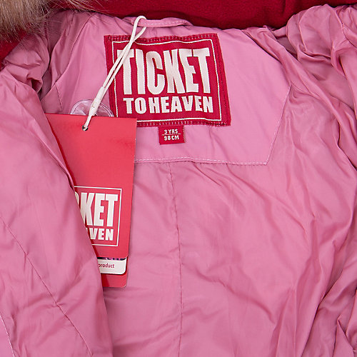 Утеплённый комбинезон Ticket To Heaven - розовый от TICKET TO HEAVEN