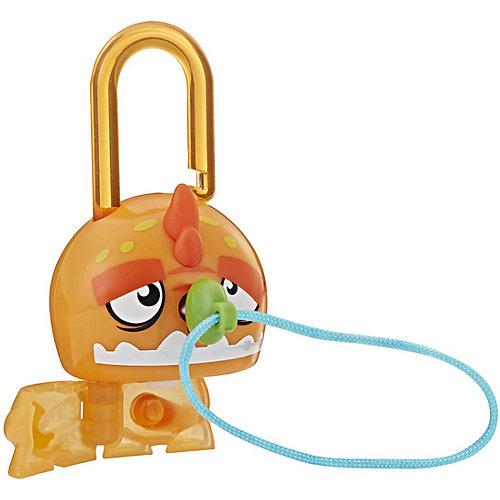Замочки с секретом Lock Stars, Оранжевый динозавр от Hasbro