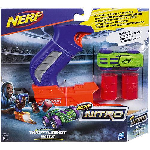 Пусковое устройство Nerf Нитро, зелёная машинка от Hasbro