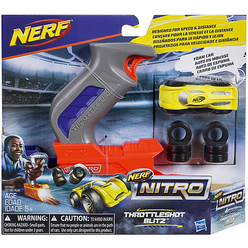 Пусковое устройство Nerf Нитро, жёлтая машинка от Hasbro