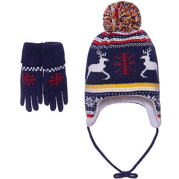 Комплект: Шапка и перчатки Janus для мальчика
